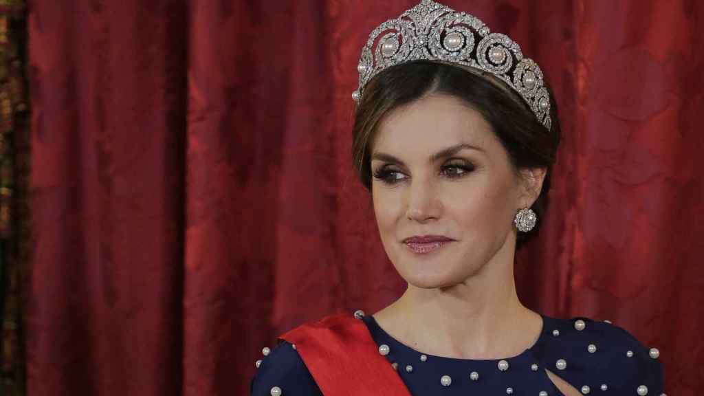 Letizia con la tiara de Cartier, la favorita de Sofía