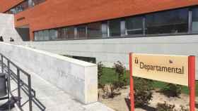 Entrada del Edificio Departamental de la URJC.