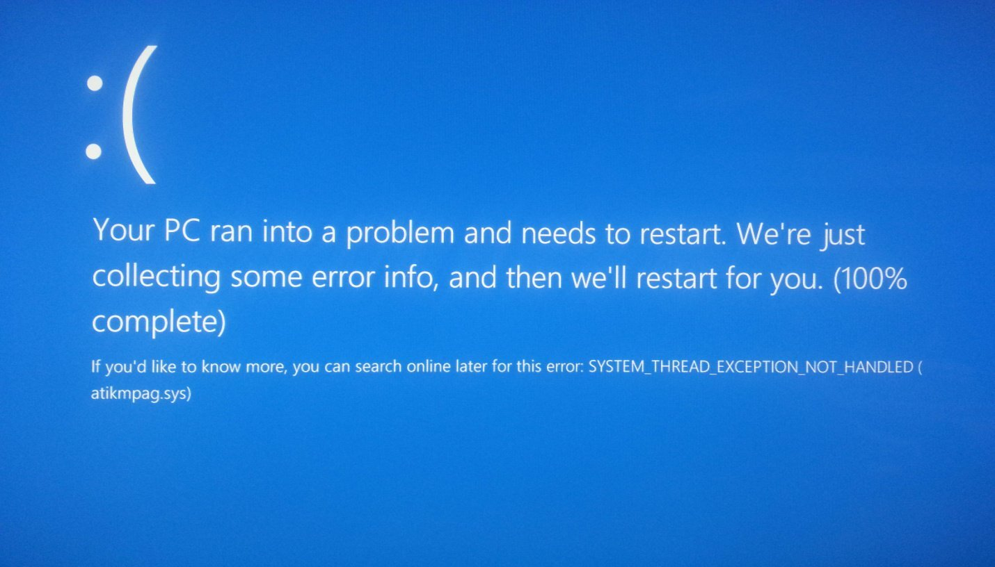 windows 10 pantallazo azul bsod