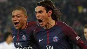 Mbappé y Cavani. Foto Instagram (@psg)
