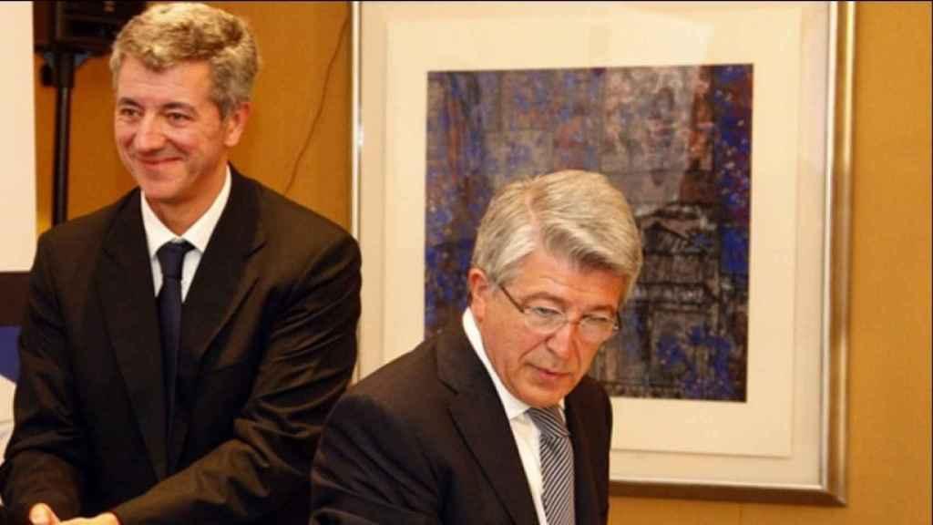 Cerezo y Gil Marín. Foto: atleticodemadrid.com