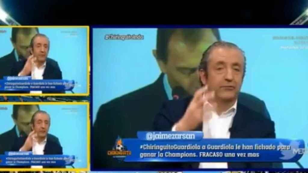 Josep Pedrerol en El Chiringuito. Foto: Twitter (@elchiringuitotv)