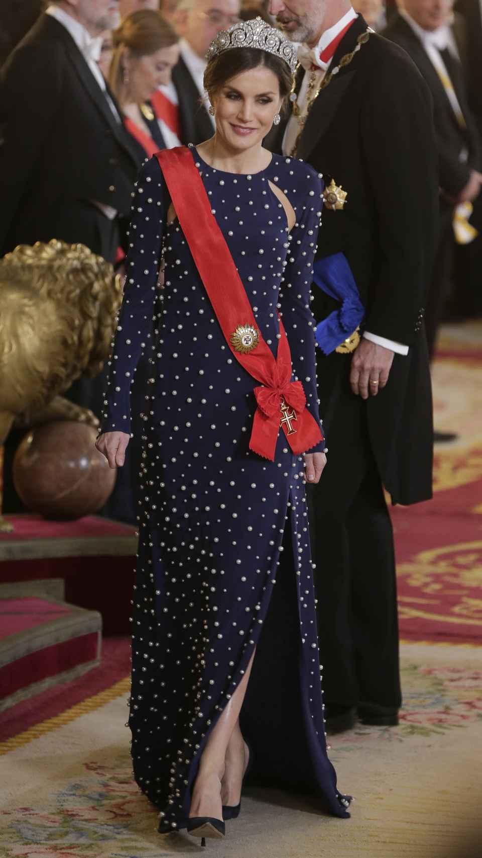 Letizia, vestida de Ana Locking
