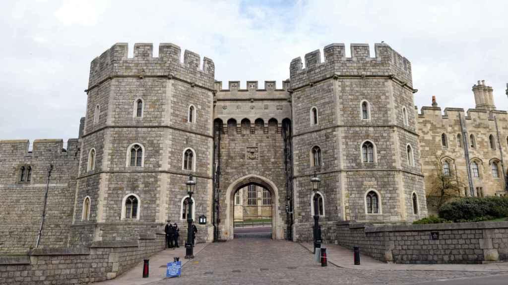 Fachada del castillo de Windsor.