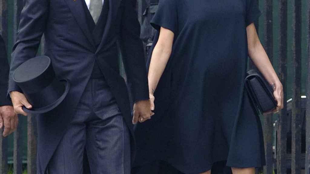 Los Beckham en la boda de Kate Middleton y el príncipe Guillermo.