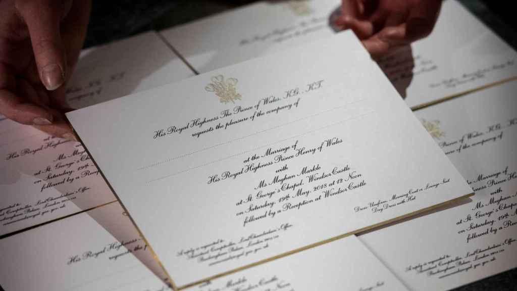 Invitaciones de Harry y Meghan.