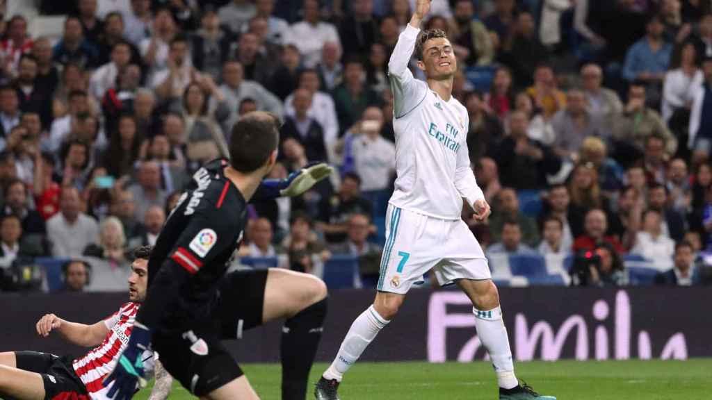 Cristiano, ante Kepa, en el Real Madrid - Athletic.