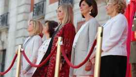Cristina Cifuentes presidiendo el acto del 2 de mayo en 2017.