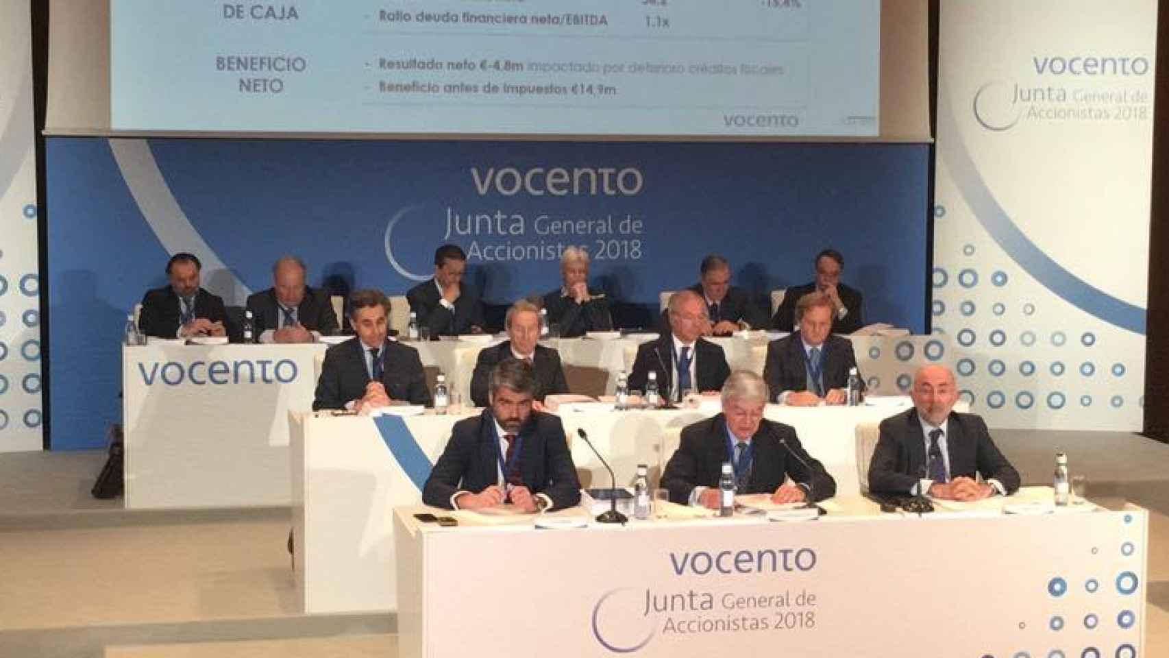 Junta de Accionistas de Vocento de 2018, en una imagen de archivo.