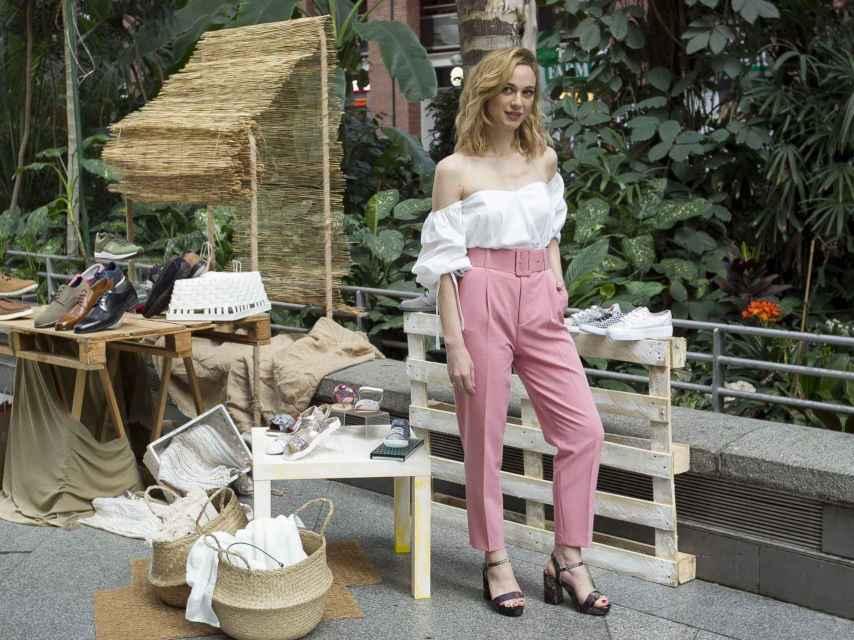 Marta Hazas en la presentación de la nueva colección de Merkal.