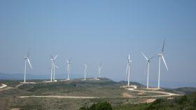 Un parque de aerogeneradores en Aragón.