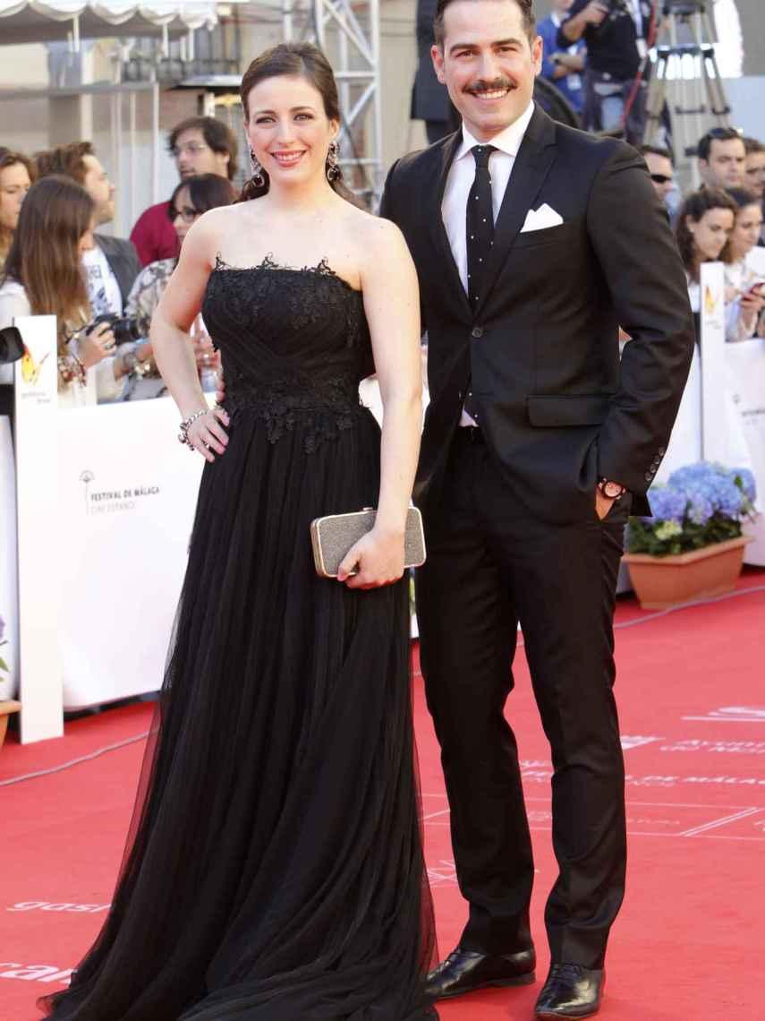 Ruth Nuñez y Alejandro Tous en el Festival de Cine de Málaga en 2015.