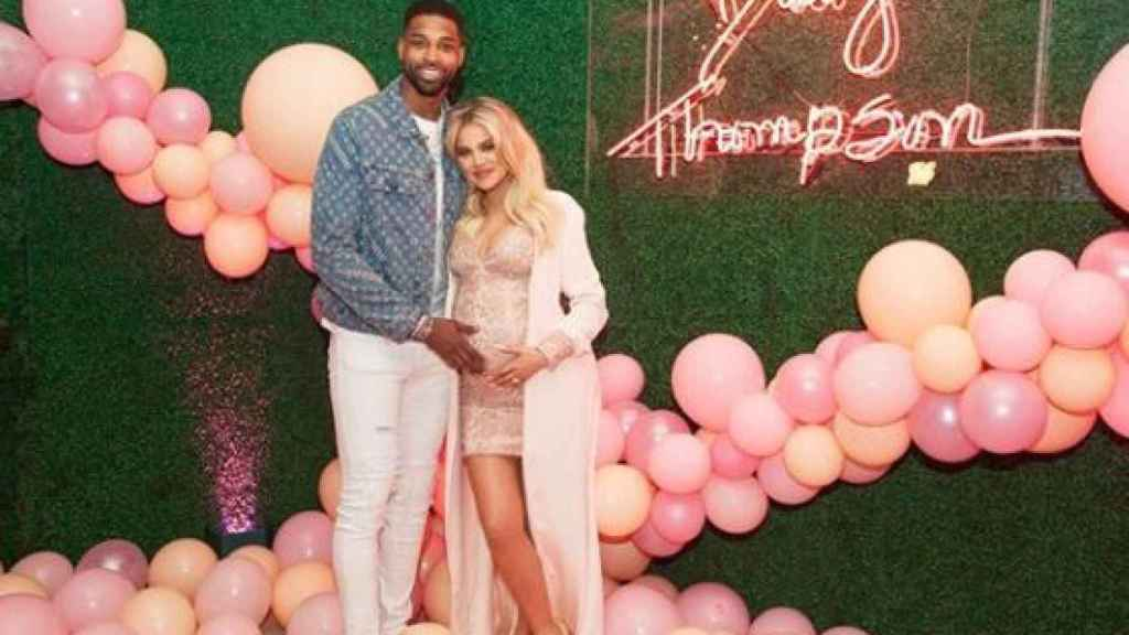 Khloé Kardashian y Tristan Thompson celebraban la llegada de su hija.
