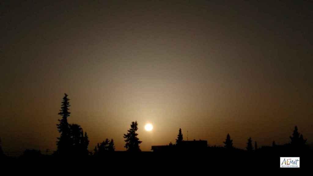 Nube de polvo instalada sobre Murcia.