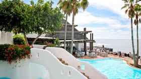 Una imagen de una de las piscinas del hotel.