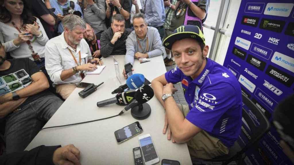 Valentino Rossi, en la conferencia de prensa ofrecida en Austin.
