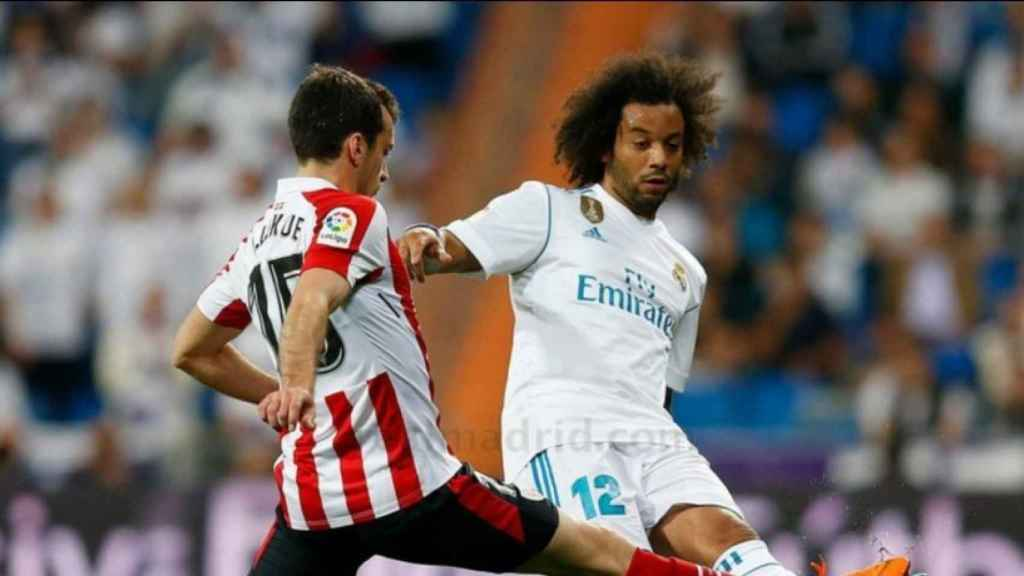 Marcelo, en el Real Madrid - Athletic