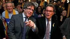 Artur Mas junto a Puigdemont el pasado diciembre en Bélgica./