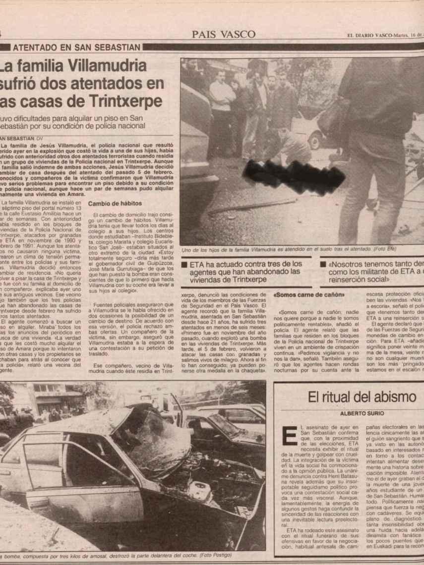 Imágenes del atentado contra Villamudria.