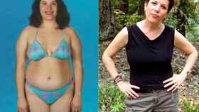 Susan Peirce Thompson, antes y después de su adicción a la comida.