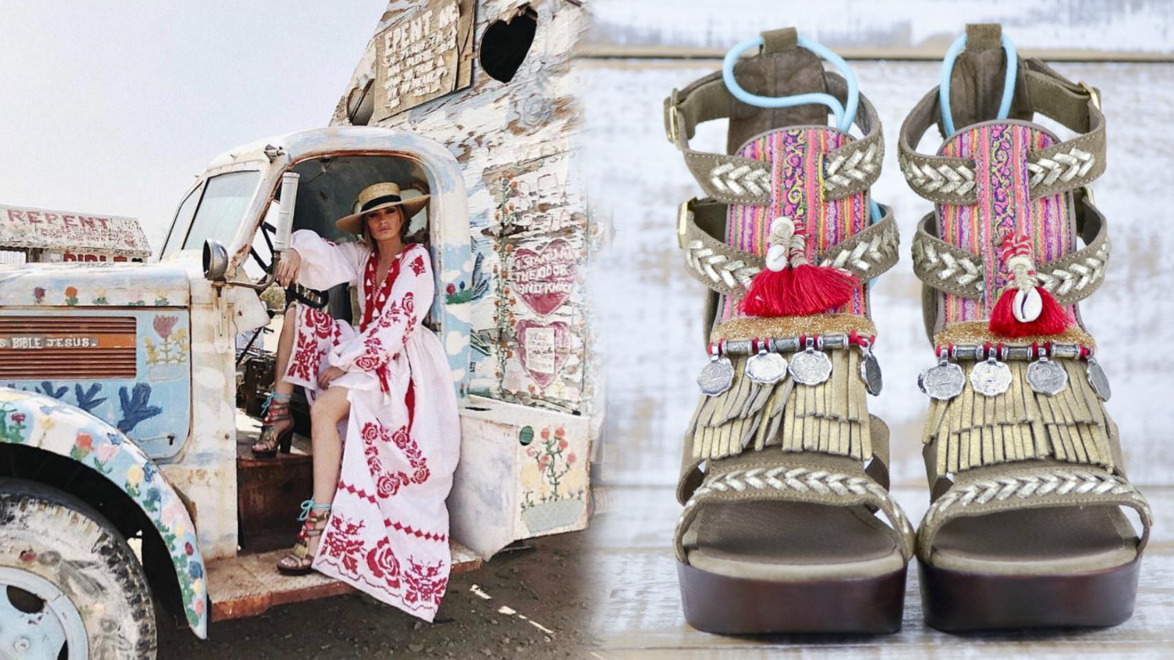 La estilista ha lucido un calzado muy llamativo en el festival.