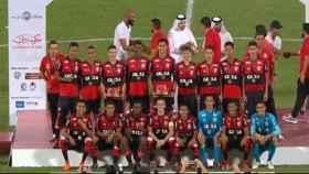 Los jugadores del Flamengo celebran el título. Foto: www.flamengo.com.br