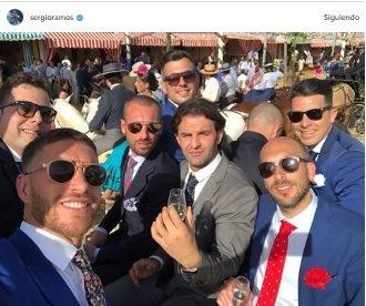 Ramos y Ceballos disfrutan de sus días libres en la Feria de Sevilla
