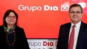 La presidenta de Dia, Ana María Llopis, y el CEO de Dia, Ricardo Currás.