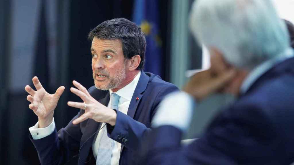 El exprimer ministro francés Manuel Valls durante un coloquio sobre el futuro de Europa.