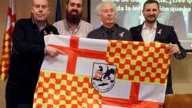 De izquierda a derecha: Tomás Guasch, Jauem Vives, Albert Boadella y MIguel Martínez. Forman el gobierno de Tabarnia y han sido amenazados