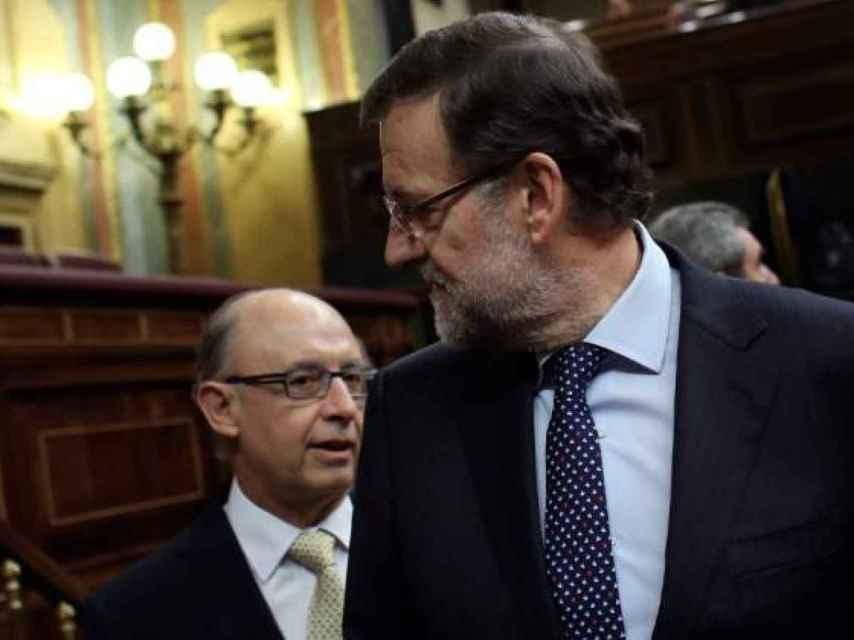 Montoro y Rajoy en el Congreso.