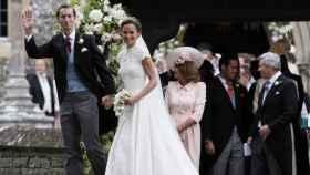 La pareja en el día de su boda.