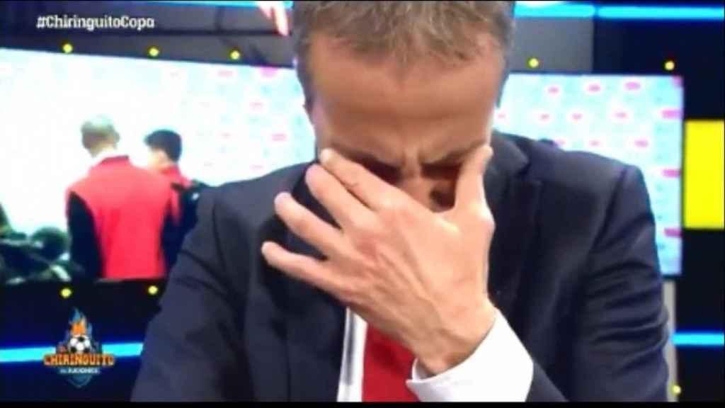 Cristóbal Soria llorando