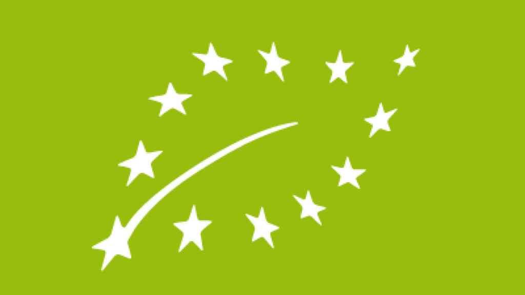 Logo de comida orgánica de la UE.