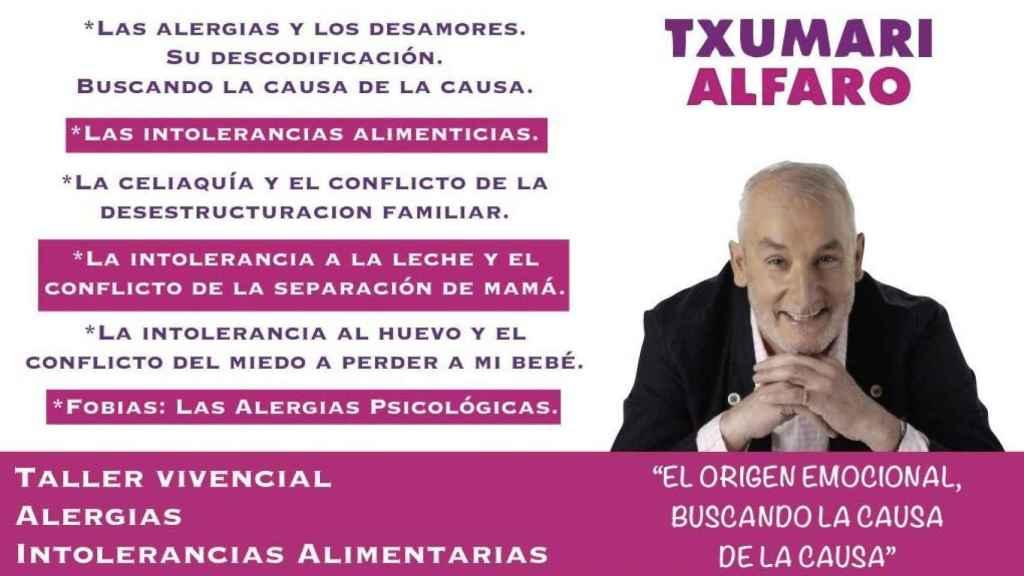 Los talleres con los que Txumari Alfaro relaciona celiaquía, intolerancias alimentarias y alergias con psicología.