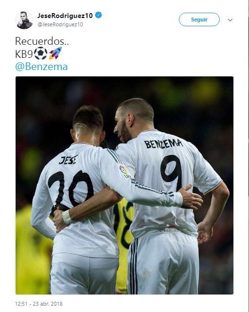 El guiño de Jesé a Benzema en medio de las críticas