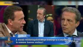 Cara a cara entre Francisco Buyo y Cristóbal Soria en El Chiringuito. Foto: Twitter (@elchiringuitotv)