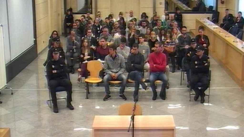 Una de las sesiones del juicio de Alsasua que se sigue en la Audiencia Nacional