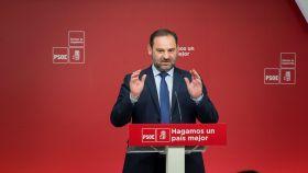 José Luis Ábalos, este martes tras una Ejecutiva del PSOE