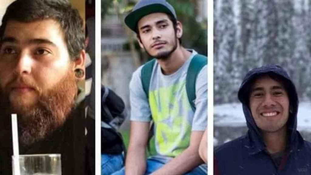 Los tres estudiantes asesinados