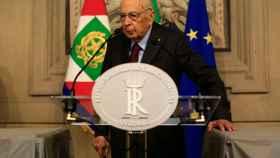 El expresidente de Italia y senador vitalicio, Giorgio Napolitano.