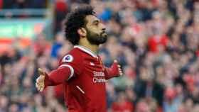 Salah, jugador egipcio del Liverpool. Foto: Twitter (@MoSalah)