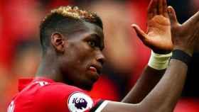 Pogba, en un partido del Manchester United. Foto: manutd.com