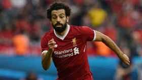 Salah durante un partido con el Liverpool. Foto liverpoolfc.com