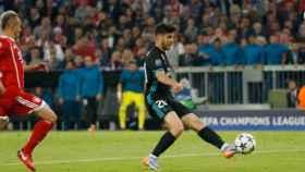Asensio remata a la portería del Bayern