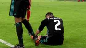 Carvajal, lesionado ante el Bayern