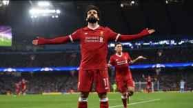 Mohamed Salah silencia al Etihad Stadium con su gol. Foto: Twitter (@elchiringuitotv).