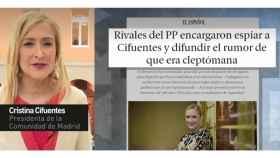 Cifuentes tuvo que responder sobre su supuesta cleptomanía por una información de EL ESPAÑOL.