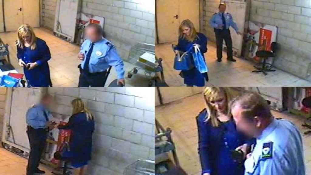 Fotogramas del vídeo del hurto de Cristina Cifuentes.
