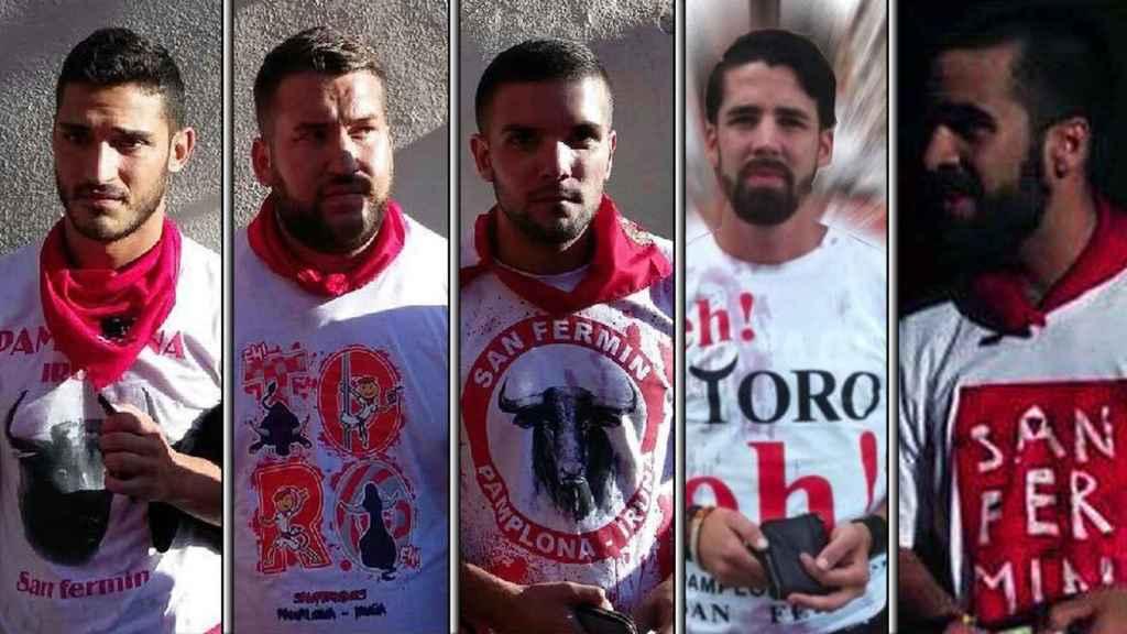 Los cinco miembros del grupo de jóvenes sevillanos conocido como 'La Manada'.